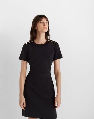 Club Monaco Button Shoulder Dress