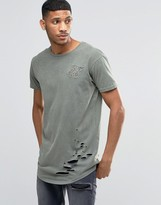 SikSilk Distressed T-Shirt