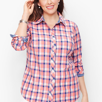 Talbots Classic Cotton Shirt - Crisp Plaid