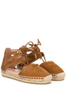 Aquazzura Mini - lace-up espadrilles - kids - Leather/Suede/rubber - 28