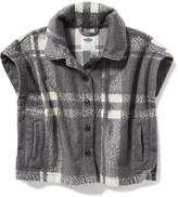 Old Navy Soft Plaid Poncho for Toddler Girls