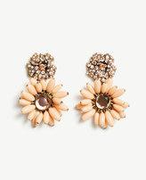 Ann Taylor Flower Charm Statement Earrings