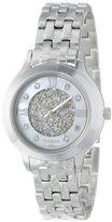 Swarovski Armitron Women's 75/5174MPSV Crystal Accented Silver-Tone Bracelet Watch