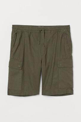 H&M Linen-blend Utility Shorts