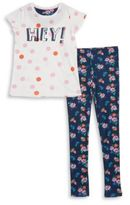 Dex Girls Two-Piece Tee and Pants Pajama Set