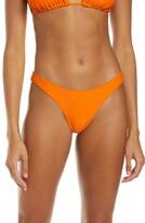 Thumbnail for your product : Frankie's Bikinis Cheeky Ribbed Bikini Bottoms