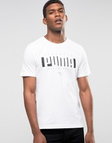 Puma Logo T-shirt In White 83833102