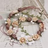 Osye Handmade Bridal Flower Wreath Crown Wedding Hair Pins Garland Headbands