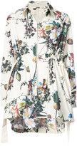 ADAM by Adam Lippes gathered waist floral jacket