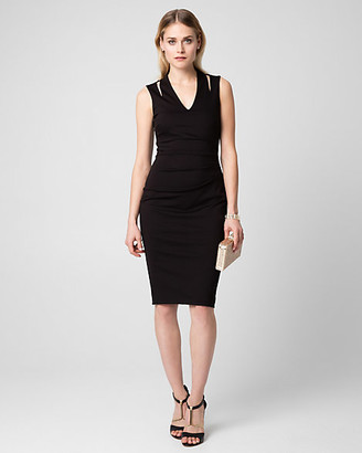 Le Château Ponte V-Neck Shift Dress