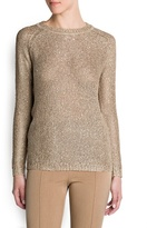 MANGO Sequined Knit Sweater