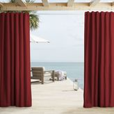west elm Outdoor Solid Curtains - Lipstick