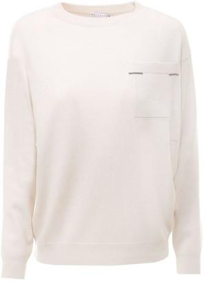 Brunello Cucinelli Crewneck Pocket Sweater