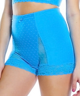 Ahh By Rhonda Shear Women's Underwear Ocean - Ocean Blue Dot High-Waist Boyshorts - Women & Plus