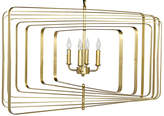 Noir Dimaclema Large Chandelier - Antiqued Brass
