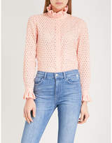 Claudie Pierlot Frilled cotton blouse