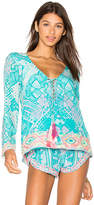 Rococo Sand Embroidered Top in Blue. - size L (also in M,S)