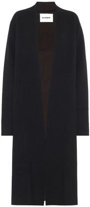 Jil Sander Stretch-wool and cashmere cardigan