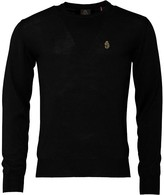 Luke 1977 Mens Gerard 3 Crew Neck Jumper Jet Black