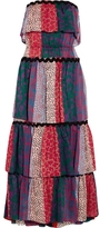 Sonia Rykiel Strapless Tiered Floral Gown