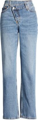 Topshop Wrap Straight Leg Jeans