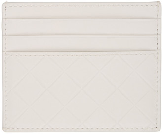 Bottega Veneta White Intarisio Card Holder