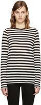 Proenza Schouler Black & Ecru Striped T-Shirt