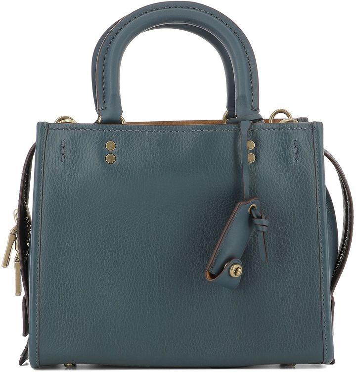Coach Blue Leather Handle Bag