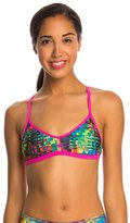 Speedo Turnz Eye Spy Printed Fixed Back Bikini Swimsuit Top 8146382