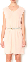 Freeway Pink Faux Suede Dress