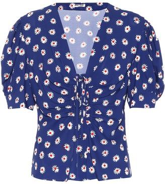 Miu Miu Floral-printed top