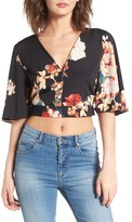 Band of Gypsies Women's Floral Print Crop Top