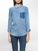 Calvin Klein Slim Indigo Boyfriend Shirt