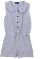 Sweet & Soft Blue & White Stripe Peter Pan Button-Up Romper - Infant & Toddler