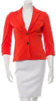 Diane von Furstenberg Notch-Lapel Fitted Blazer