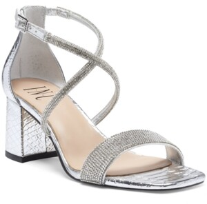 INC International Concepts Inc Women's Nerissa Block-Heel Multi-Band Evening Sandals, Created for Macy's Women's Shoes