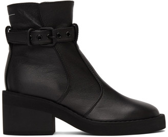 MM6 MAISON MARGIELA Black Buckle Ankle Boots