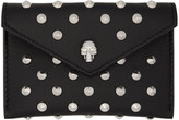 Alexander McQueen Black Skull Studded Envelope Card Holder