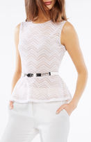 BCBGMAXAZRIA Chain Faux-Leather Waist Belt