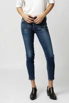 Gold Sign Glam Skinny Crop Jean