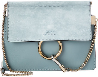 Chloé Faye Mini Leather & Suede Shoulder Bag