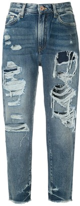 Armani Exchange Ripped Detail Jeans