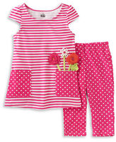 Kids Headquarters Baby Girls Two-Piece Printed Tunic and Leggings Set
