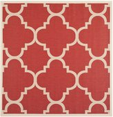 Safavieh Courtyard Collection CY6243-248 Indoor/Outdoor Square Area Rug, 5 Feet 3-Inch Square