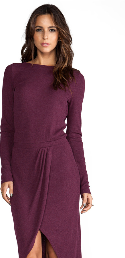 Heather Long Sleeve Wrap Maxi Dress