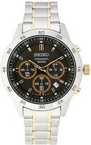 Seiko SKS525 Silver-Tone & Black Watch