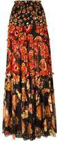 Lanvin floral print maxi skirt