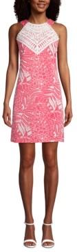 Pappagallo Mommy & Me Lace-Trim Floral-Print Halter Dress