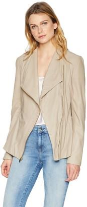 Via Spiga Women's Drape Front Leather