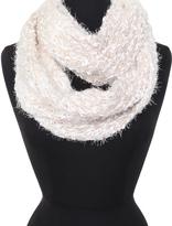 Cejon White & Taupe Ombré Knit Infinity Scarf
